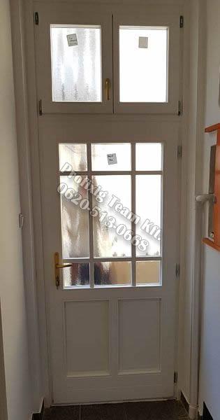 Álosztós fa bejárati ajtó