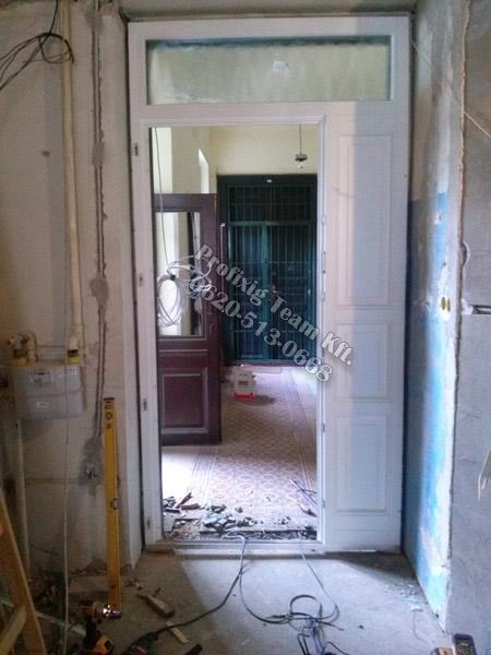 új ajtó beállítás