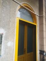 Íves fa bejárati ajtó