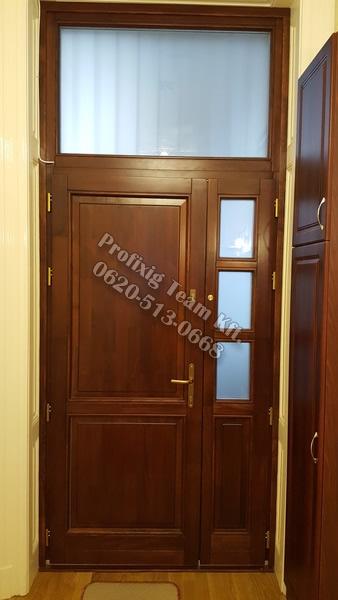 Új fa bejárati ajtó