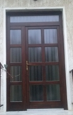 Fa ajtó csere, felül fix ablakkal