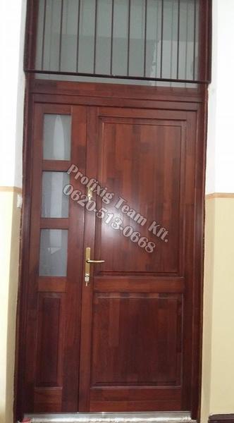 Lépcsőházi fa bejárati ajtó