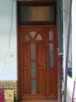 Kétszárnyú fa bejárati ajtó Budapest, 9kerben