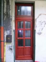 Mahagóni fa bejárati ajtó