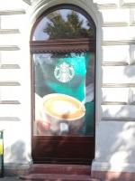 Budapest, Oktogon téri Starbuxs ablakcsere